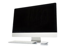 Computer screen isolated Royalty Free Stock Image