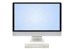 Computer screen isolated Royalty Free Stock Photography