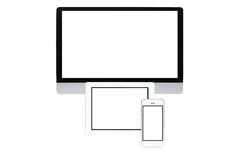 Computer screen isolated Royalty Free Stock Images