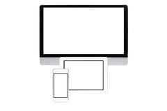 Computer screen isolated Stock Photos