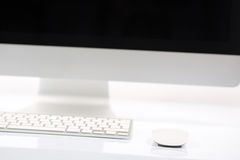 Computer Screen, Keyboard and Mouse Stock Photography