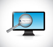 Computer screen search bar online illustration Stock Photos