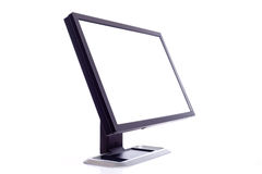 Computer Screen on white stock photography
