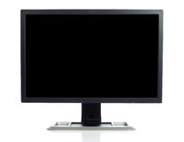 Computer Screen on white stock photos