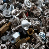 Computer screws, bolts and nuts Stock Image