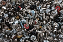 Computer screws, bolts and nuts Stock Images