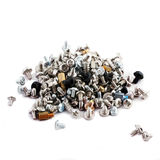 Computer screws and jupper switches Stock Images