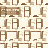 Computer seamless pattern Royalty Free Stock Photo