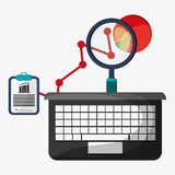Computer search finance strategy. Vector illustration eps 10 Stock Photo