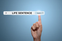 Search of life sentence Stock Image
