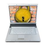 Computer Security. (clipping path included Royalty Free Stock Photo