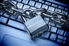 Computer Security Internet Keyboard Lock Royalty Free Stock Image