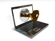 Computer security concept 3d render Royalty Free Stock Photo