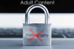 Computer security concept. No Pornography Royalty Free Stock Images