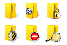Computer security concepts. Folders Royalty Free Stock Images