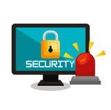 Computer security data base lock. Illustration eps 10 Stock Image
