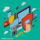 Computer security, data protection, privacy vector concept Stock Images