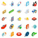 Computer security icons set, isometric style. Computer security icons set. Isometric set of 25 computer security vector icons for web isolated on white Royalty Free Stock Photo