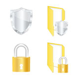Computer security icons Stock Photos