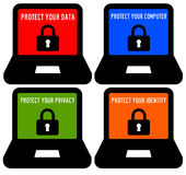 Computer security. Keeping your computer and data secured Stock Images