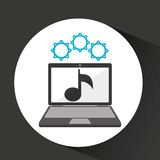 Computer security music social network concept. Vector illustration eps 10 Royalty Free Stock Photos