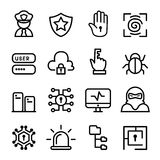 Computer security, Network, Software icon set Stock Photo