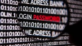 Computer security - password stock video footage