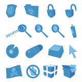 Computer security - set of vector icons Stock Photos