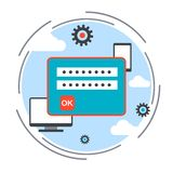 Computer security vector concept Royalty Free Stock Photography