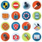 Computer security vector icons Royalty Free Stock Photo