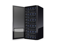 Computer server. 3d computer servers on the white background Royalty Free Stock Photography