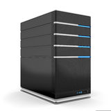 Computer server. 3d render of computer server on white background Royalty Free Stock Photography