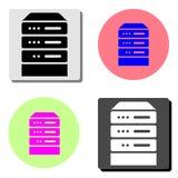 Computer Server. flat vector icon vector illustration