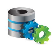 Computer server and gears Royalty Free Stock Photos