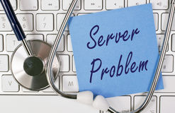 Computer server problem Royalty Free Stock Image