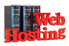 Computer Server Racks, computer web hosting concept. 3D renderin Stock Images