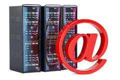 Computer Server Racks for male concept, 3D rendering Stock Photo