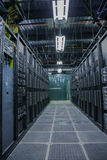 Computer Server Room Interior Royalty Free Stock Photos