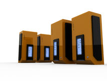 Computer servers. 3d computer servers on the white background Stock Photo