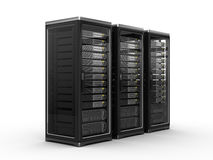 Computer servers. Isolated on white Stock Photography
