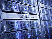 Computer servers. Modern Computer servers - 3d render Stock Photos