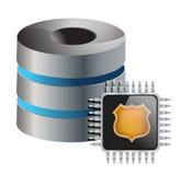 Computer servers chip Stock Photo
