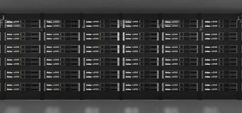 Computer servers 3d rendering Royalty Free Stock Photo
