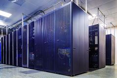 Computer servers in data center Stock Photos