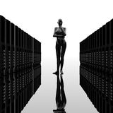 Computer servers in a row Royalty Free Stock Photography