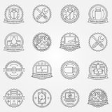 Computer service badges Stock Image