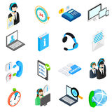 Computer service icons set, isometric 3d style Stock Image