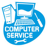 Computer Service Labe Royalty Free Stock Image