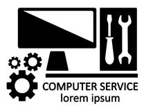 Computer service symbol Royalty Free Stock Images