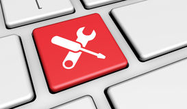 Computer Service Work Tool Icon Royalty Free Stock Photo